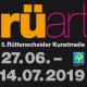 Flyerbild Kunstmeile 2019Logo, Zeitraum Kunstmeile in Essen-Rüttenscheid